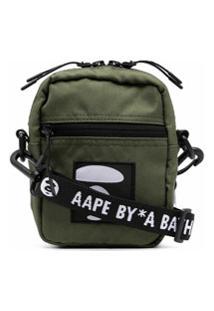 Aape By *A Bathing Ape® Logo-Patch Shoulder Bag - Verde
