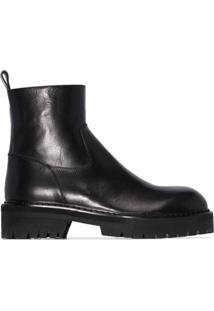 Ann Demeulemeester Tucson Chunky Ankle Boots - Preto