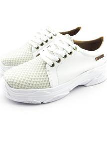 Tênis Chunky Quality Shoes Feminino Animal Branco Quadriculado 35