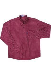 Camisa Manga Longa Masculina Rodeo Western - Masculino-Vinho