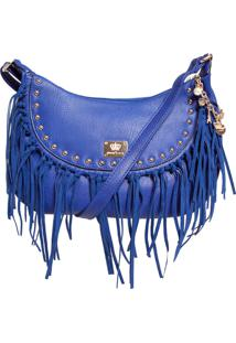 Bolsa Queens Rebites Franjas Azul