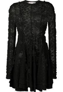 Stella Mccartney Vestido Com Renda - Preto