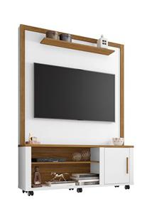 Estante Home Theater Para Tv Até 55 Pol. Smart Branco/Cinamomo - Becha