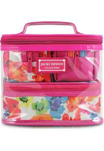 Kit De Nécessaires - Pink & Branco - 4Pçsjacki Design