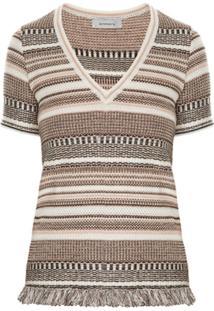 Primart Blusa 'Georgia' Tweed - Marrom