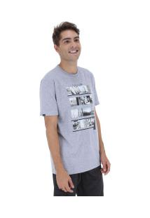 Camiseta Rusty Silk Mixtake Sb - Masculina - Cinza Claro