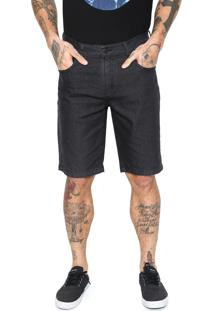 Bermuda Jeans Quiksilver Artor Black Preta
