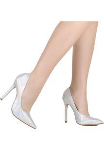Sapato Scarpin Zariff Holográfico