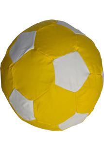 Puff Ball Futebol Infantil Pop Cipaflex Amarelo E Branco Stay Puff