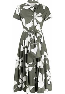 Gentry Portofino Vestido Com Estampa Floral - Verde
