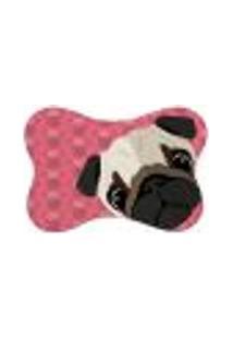 Tapete Pet Mdecore Pug Rosa 46X33Cm
