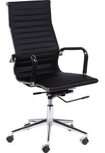 Cadeira Office Eames Esteirinha- Preta & Prateada- 1Or Design