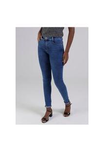 Calça Jeans Sawary Feminina Azul