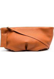 Marsèll Pebble Leather Shoulder Bag - Laranja