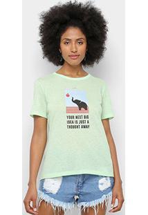 Camiseta Sommer Felling Tought Away Feminina - Feminino-Verde Água