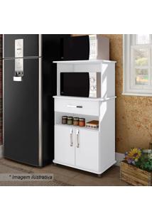 Balcão Para Forno Microondas- Branco- 126X66X43Cmmovel Bento