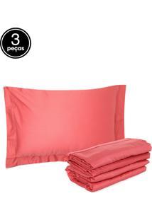 Jogo De Cama 3Pçs Solteiro Buddemeyer Vision New Colors Coral