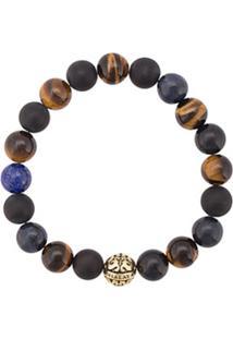 Nialaya Jewelry Pulseira Com Contas - Marrom