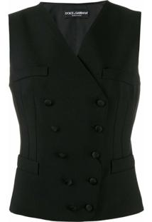 Dolce & Gabbana Casaco Com Abotoamento Duplo - Preto