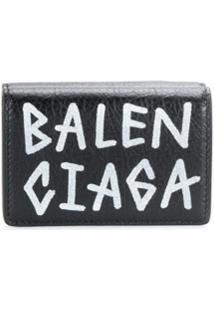 Balenciaga Carteira Mini - Preto