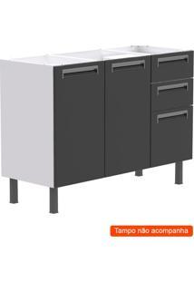 Balcão De Cozinha Para Pia Roma 2 Pt 3 Gv Cinza