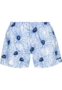 Jacquemus Cueca Boxer Com Estampa Floral Le Calecon - Azul