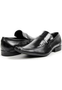 Sapato Social Masculino Em Couro Bico Fino Italiano Bigioni - Masculino-Preto