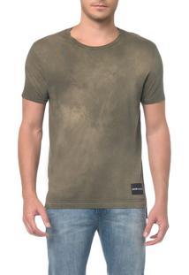 Camiseta Ckj Mc Logo Barra - Oliva - Pp