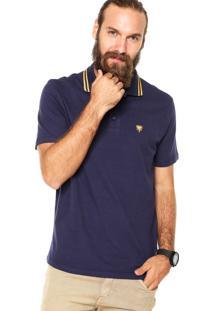 Camisa Polo Cavalera Basic Botão 2 Furos Azul Marinho