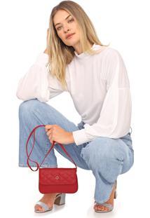 Bolsa Capodarte Matelassê Vermelha
