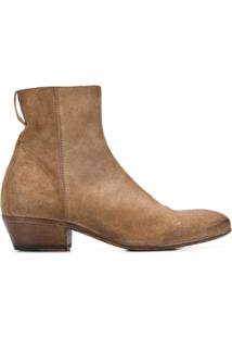 Moma Ankle Boot New Mexico Com Salto 40Mm - Neutro
