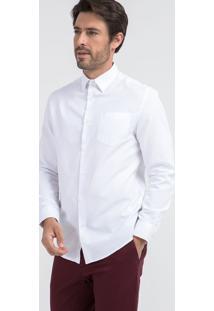 Camisa Manga Longa Comfort Fit Com Listras Finas