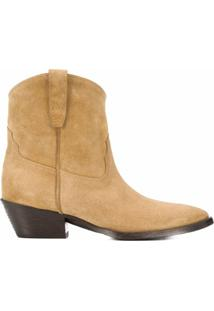 Saint Laurent Ankle Boot Western - Neutro