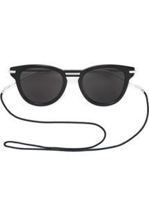 Dior Eyewear Óculos De Sol Redondo - Preto