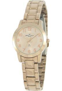 Relógio Feminino Backer Analógico 10262113F - Unissex-Dourado
