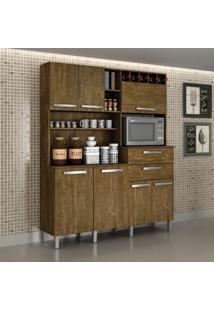 Armário Para Cozinha 7 Portas Monte Rey Valdemóveis Ipê