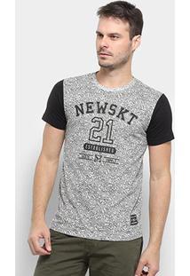 Camiseta Especial New Skate Established - Masculino-Cinza