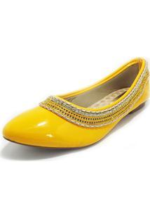 Sapatilha Teodora'S Elisa Verniz Amarelo