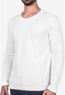 Camiseta Branca Manga Longa 102763