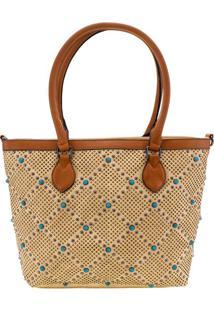 Bolsa Feminina Arara Dourada - Lt8147 Bege