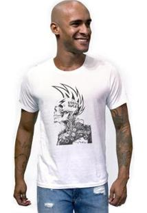 Camiseta Joss Caveira Topete Masculina - Masculino-Branco