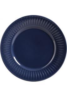 Jogo De Pratos Porto Brasil 6Pçs Daisy Deep Blue Azul-Marinho