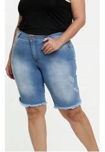 Bermuda Feminina Jeans Plus Size Biotipo