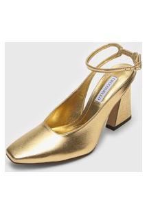 Scarpin Cecconello Metalizado Dourado