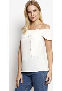 Blusa Ciganinha Com Amarração - Off Whitemoiselle