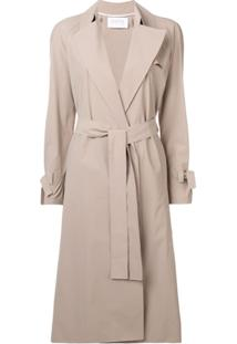 Harris Wharf London Trench Coat Com Cinto - Neutro