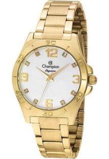 Kit Relógio Champion Analógico Cn28446Wr Feminino - Feminino-Dourado