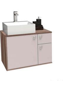 Gabinete De Banheiro Sem Cuba Caete 43,2X60Cm Nude Com Tamarindo Cozimax