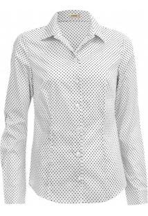 Camisa Intens Manga Longa Cetim Branco