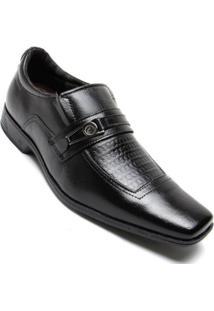 Sapato Couro Social Pegada Masculino - Masculino-Preto